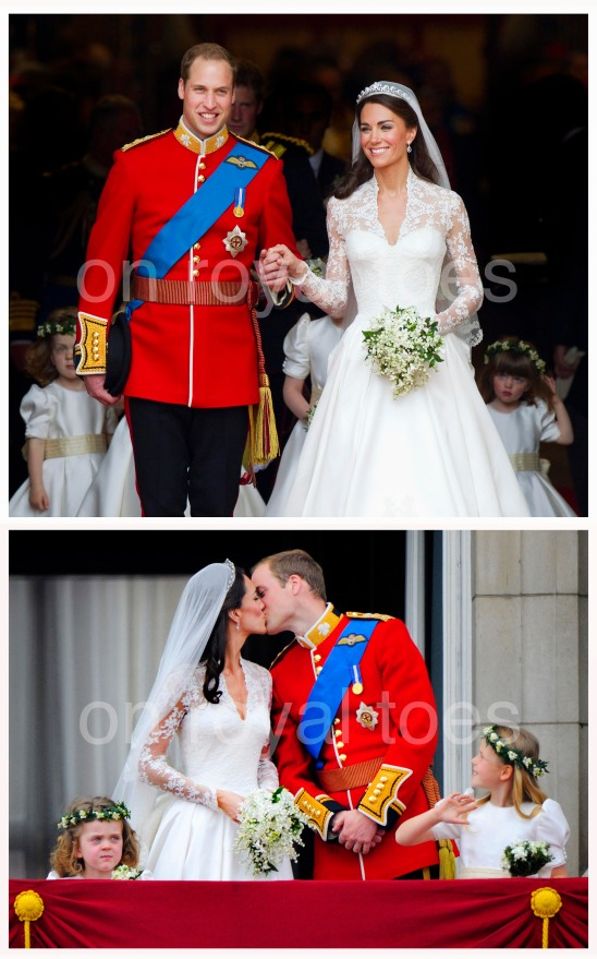 A wedding to remember and a Royal kiss