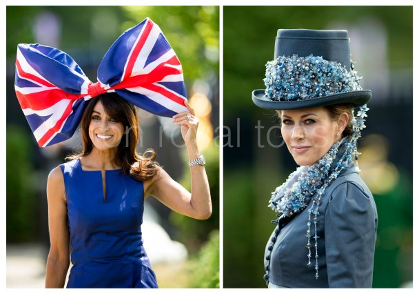 Ladies at hats on Day 1 of Royal Ascot