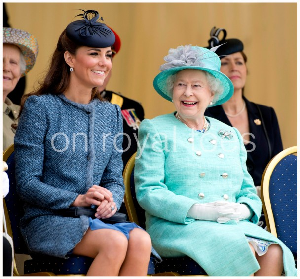 HM The Queen and Kate , the close family bond.