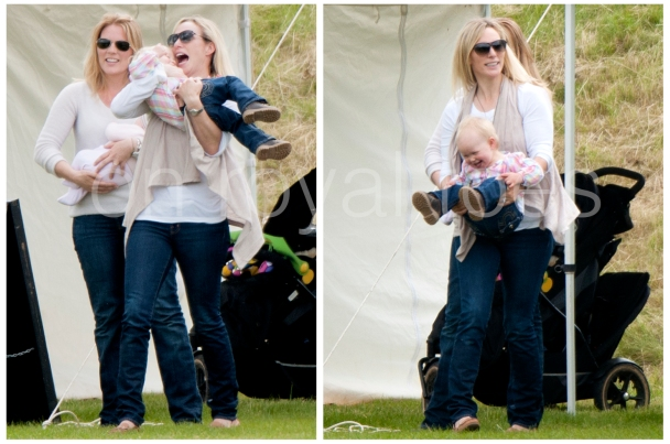 Aunty Zara plays with Savannah at the Polo