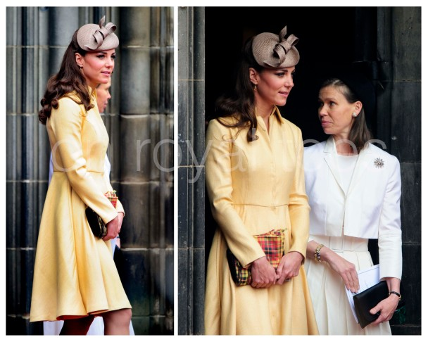 Kate wows in Yellow Coat dress